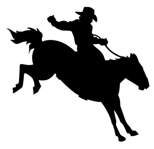 496x480 Rodeo Silhouette Clipart