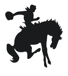 236x267 Rodeo Bull Rider Silhouette Vinyl Window Decal 6 X 5.5 Art