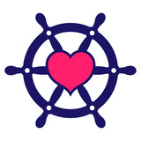 160x160 Simple Silhouette Of A Ships Wheel Stock Image And Royalty Free