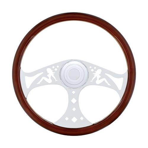 500x500 18 Wood Steering Wheel