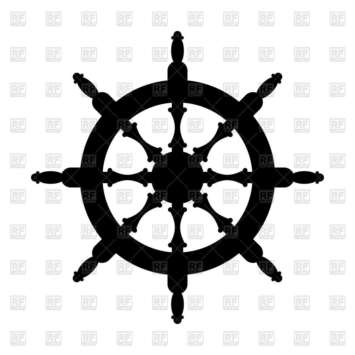 1200x1200 Steering Wheel Silhouette Isolated Royalty Free Vector Clip Art