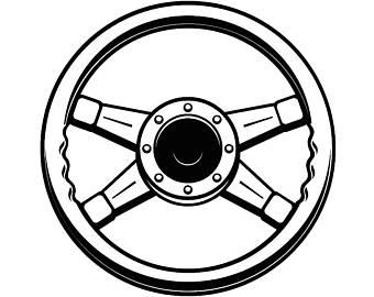 340x270 Svg Steering Wheel Etsy