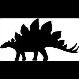 263x262 Stegosaurus Silhouette Dinosaur Toys Silhouettes