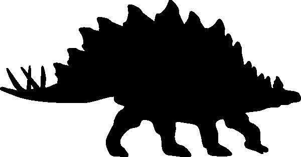 600x314 Stegosaurus Silhouette Clip Art