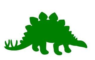 320x202 Stegosaurus Silhouette Decal Sticker