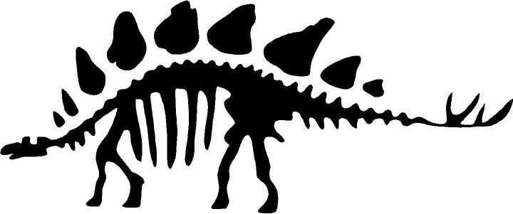 720x301 Stegosaurus Skeleton Decal Cricut, Silhouettes And Stenciling