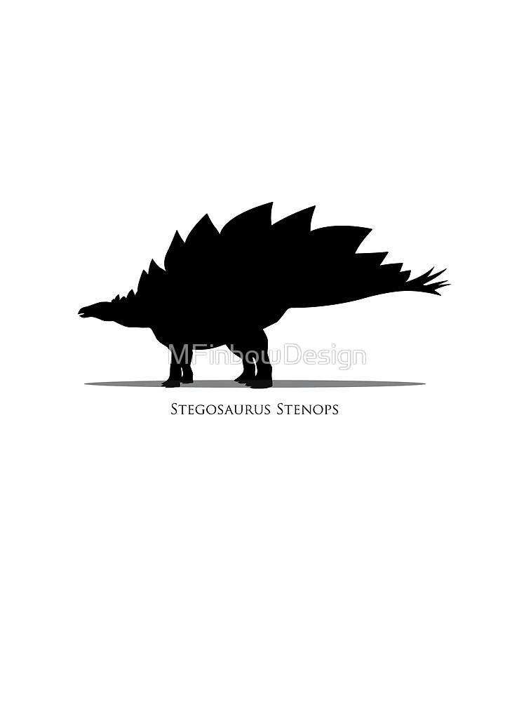 750x1000 Stegosaurus Dinosaur Silhouette Graphic T Shirt By Mfinbowdesign