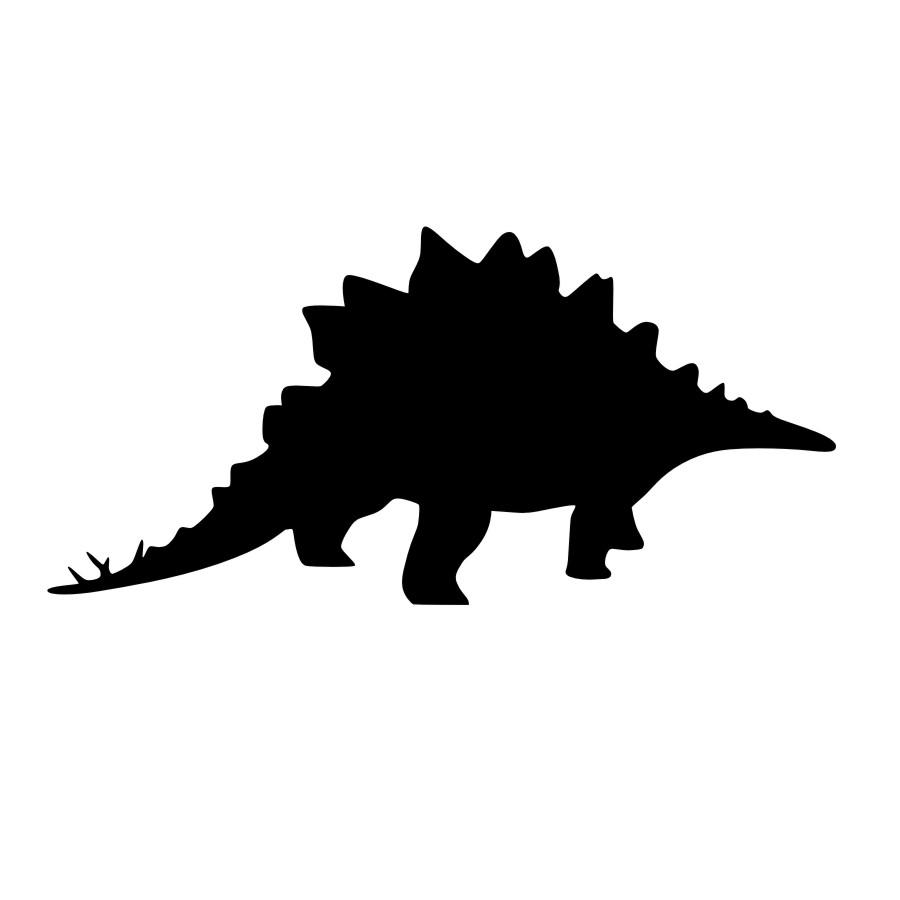 900x900 Dctop Free Shipping Stegosaurus Silhouette Wall Sticker Girls Room