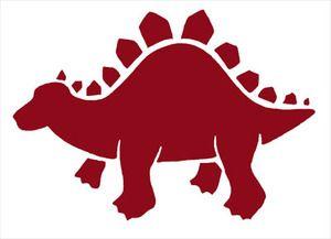 300x217 Pochoir Repositionnable 10 X 7 Cm Dinosaure Stegosaurus