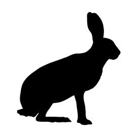270x270 Hare Silhouette Stencil Free Stencil Gallery