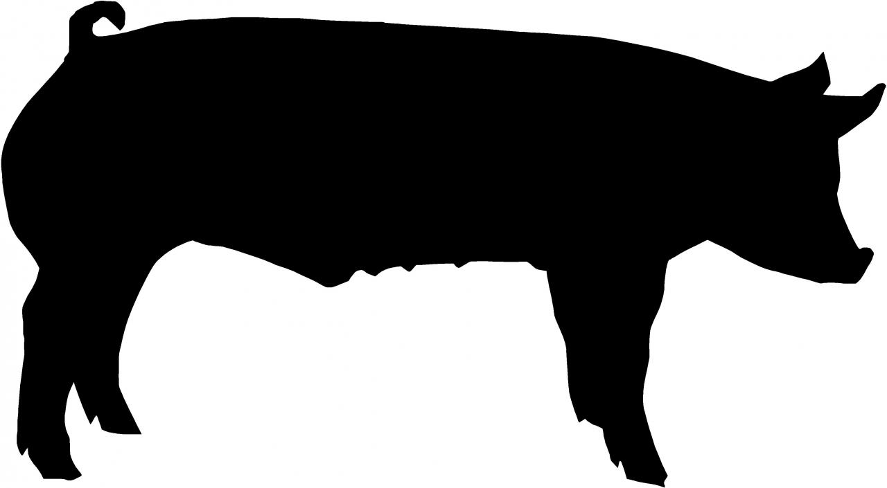 1280x705 Pig Silhouette Stencil Free Stencil Gallery