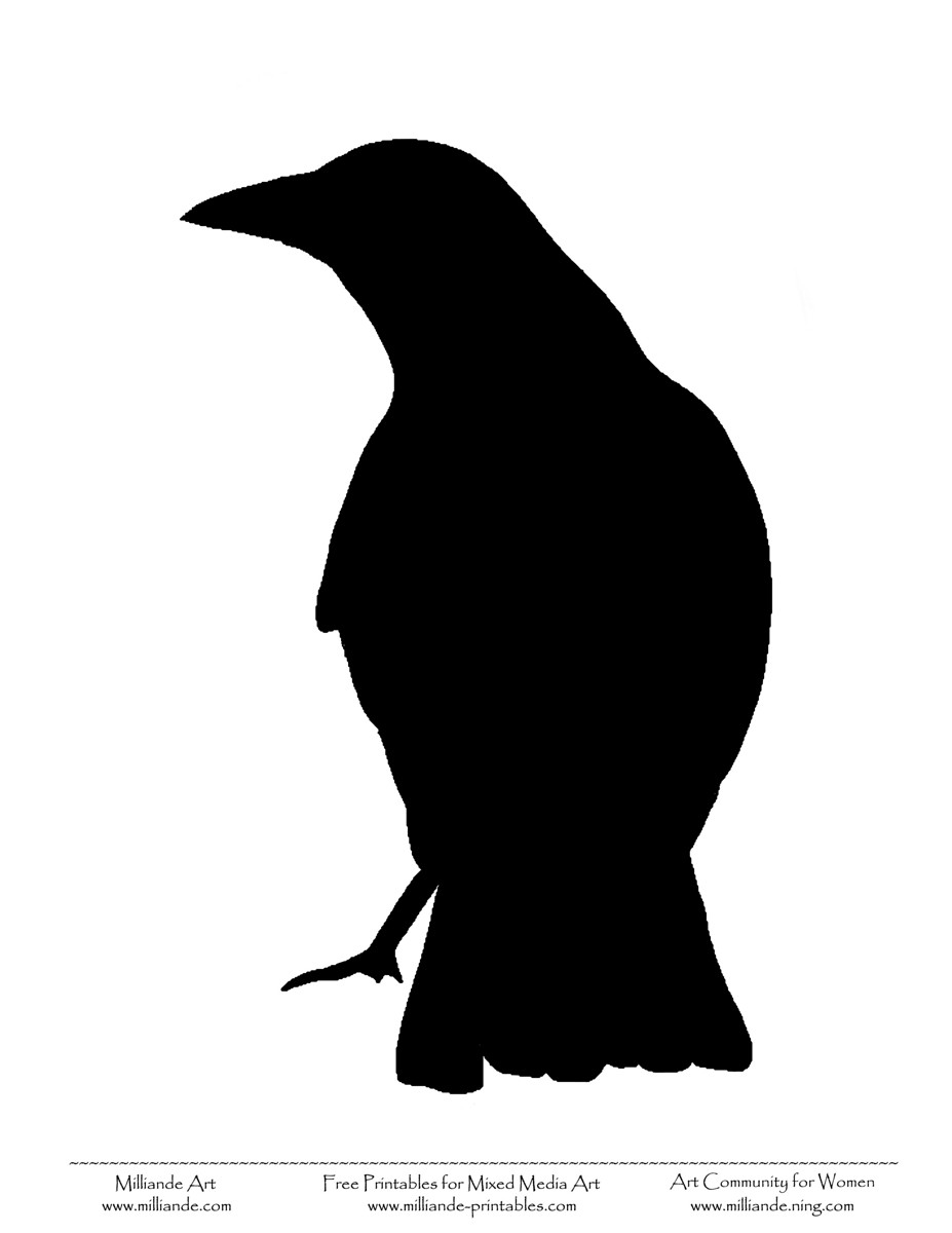927x1200 Raven Silhouette Bird Silhouettes Free Hydraulic Press Images