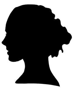 250x303 Female Face Silhouette Stencil 4left