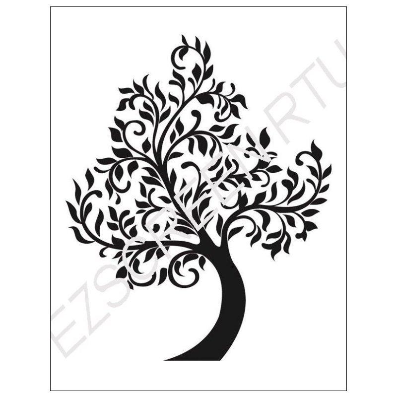 800x800 Diy Silk Screen Printing Stencil, Tree Silhouette Design Tote Bags