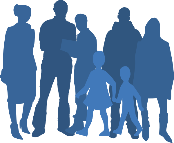 600x493 Group Silhouette Clip Art