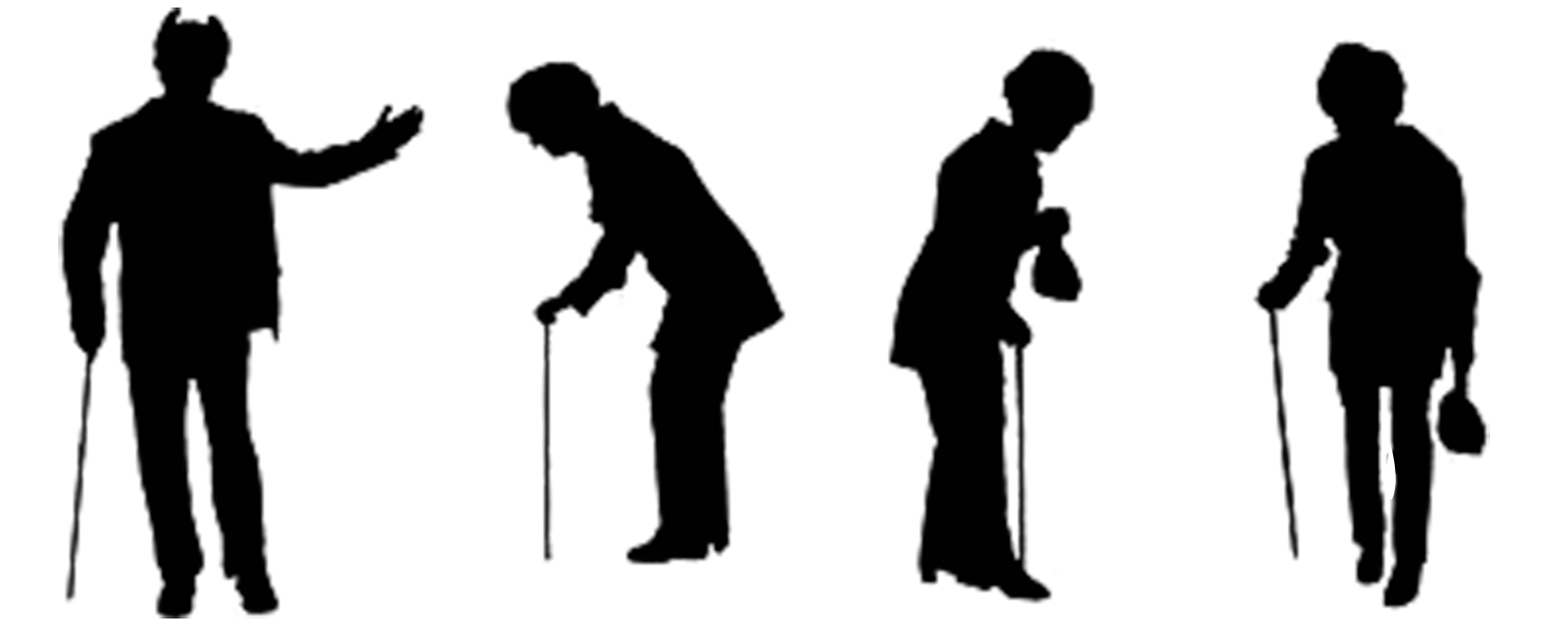 1667x666 Silhouette Old Age Illustration