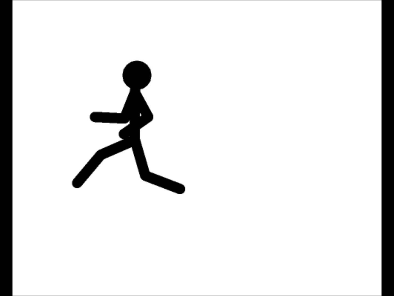 1440x1080 Stickman Running Animation