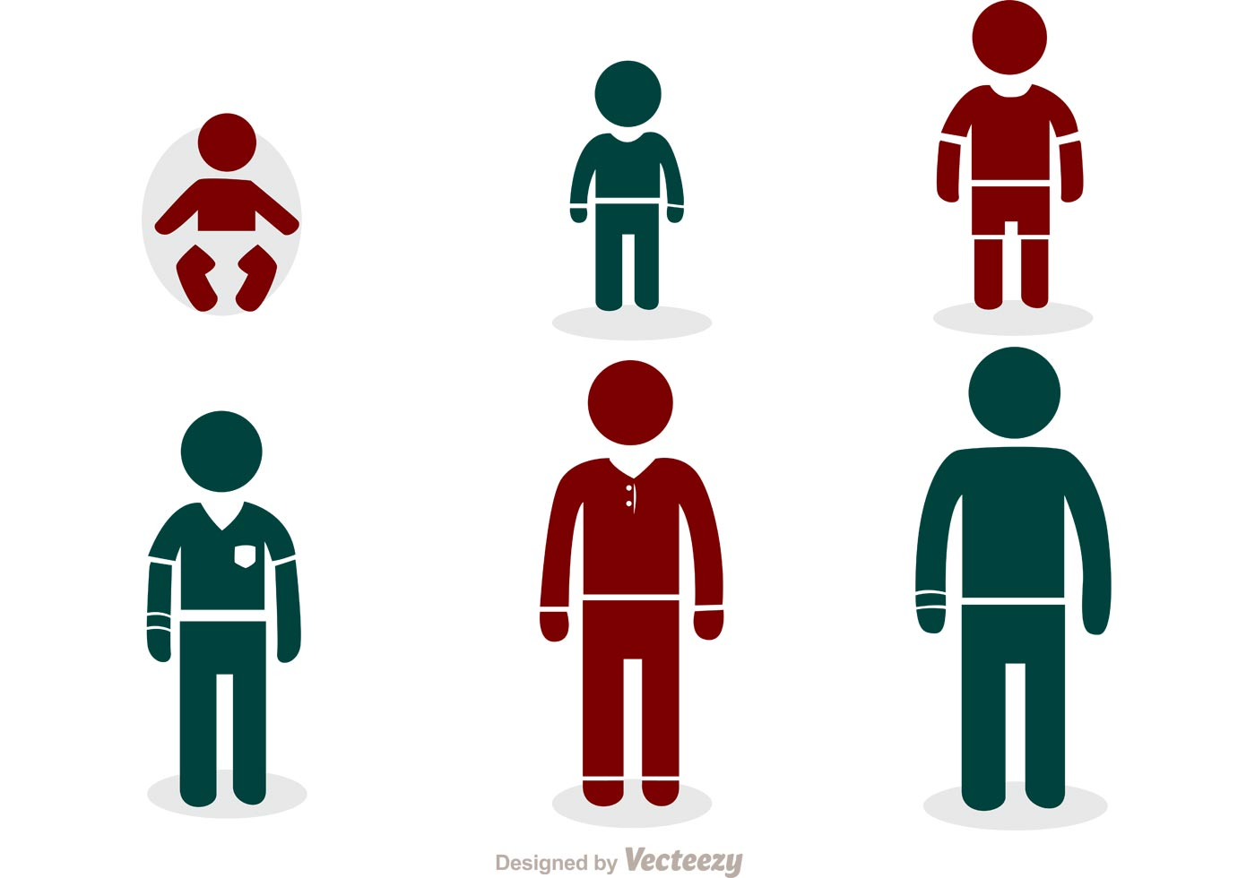 1400x980 Growing Man Stick Figure Icons Vector Pack