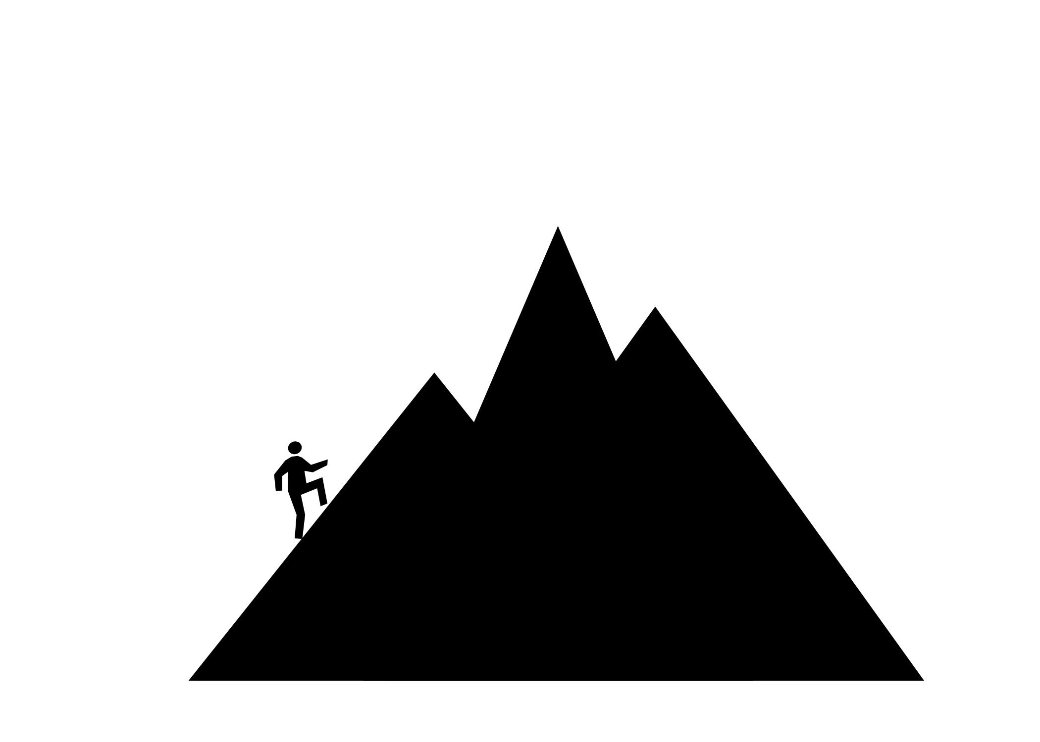2100x1500 Mountain Man Silhouette Clipart