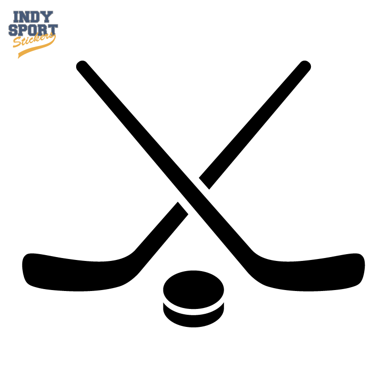 800x800 Hockey Puck And Stick Crossed Silhouette