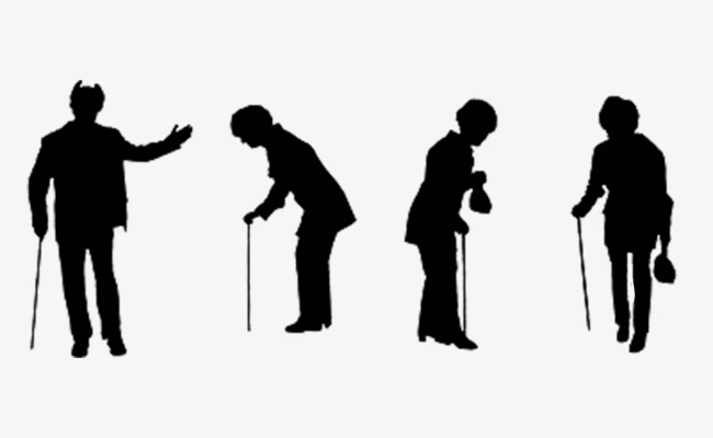 650x400 Silhouette Of A Stick Man, Old People, Sketch, Silhouette Png