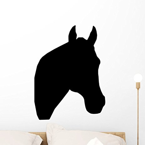 463x463 Horse Head Silhouette Wall Decal By Wallmonkeys Peel
