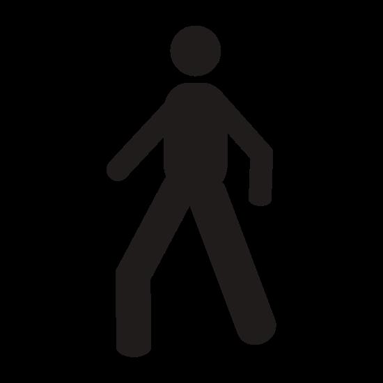 550x550 Stick Figure Walking Silhouette