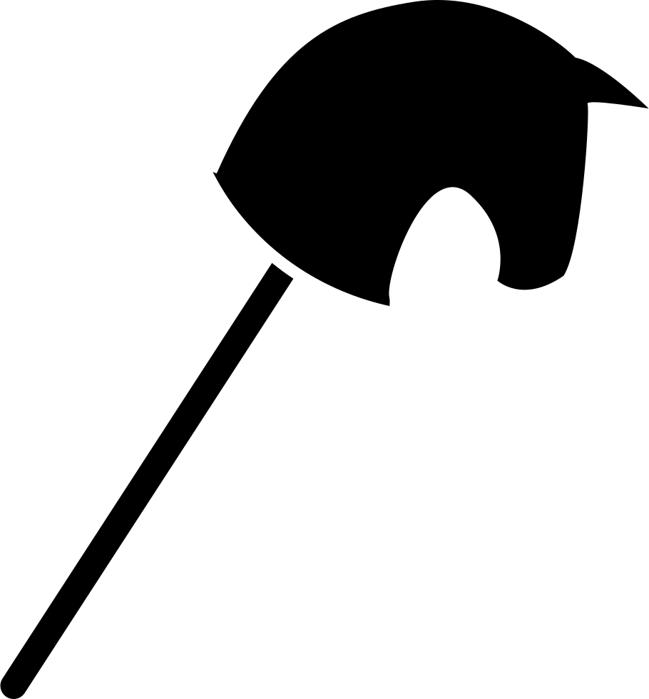 910x980 Toy Horse Head On A Stick Black Silhouette Svg Png Icon Free