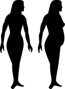218x300 Female Stick Drawing Silhouette Royalty Free Stock Image