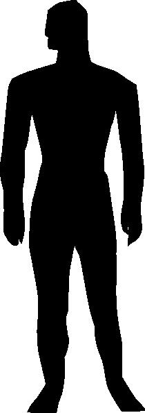 210x595 Human Clipart Human Silhouette