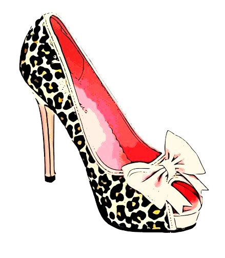 439x503 Clipart High Heels Red Shoe Clipartfest 3