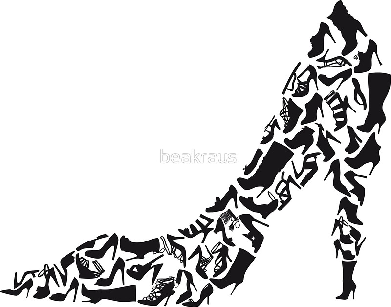 800x628 Stiletto With Different Shoe Silhouettes Stickers By Beakraus