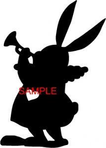 214x300 Alice N Wonderland Rabbit Silhouette Cross Stitch Chart