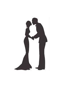 232x300 Wedding Couple Silhouette Handmade Cross Stitch Pattern Ebay