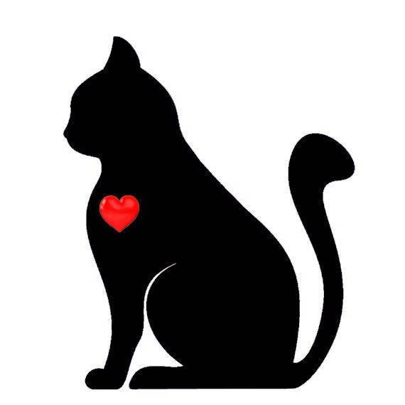 570x570 Cat Silhouette Cross Stitch Pattern