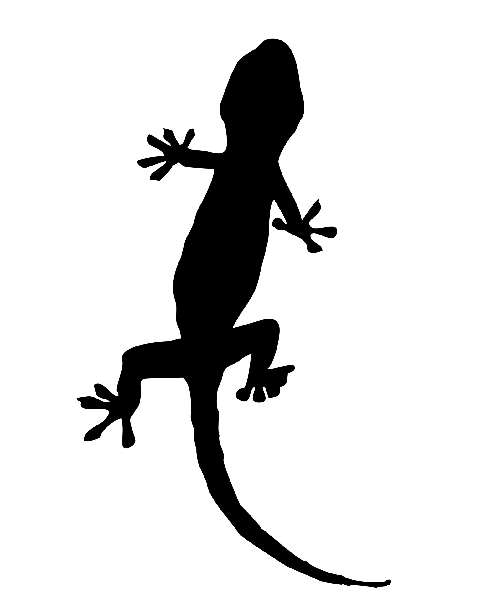 1536x1920 Gecko Silhouette Clipart Free Stock Photo