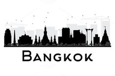 236x157 Bangkok Thailand Faux Grey Stone Skyline By Artdistinctions