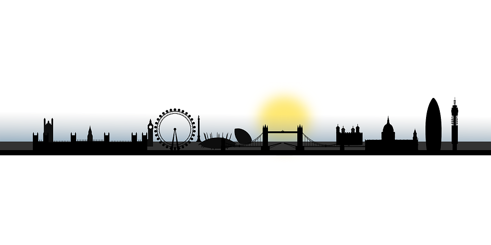 960x480 London, Skyline, Silhouette, City Cricut Adventures
