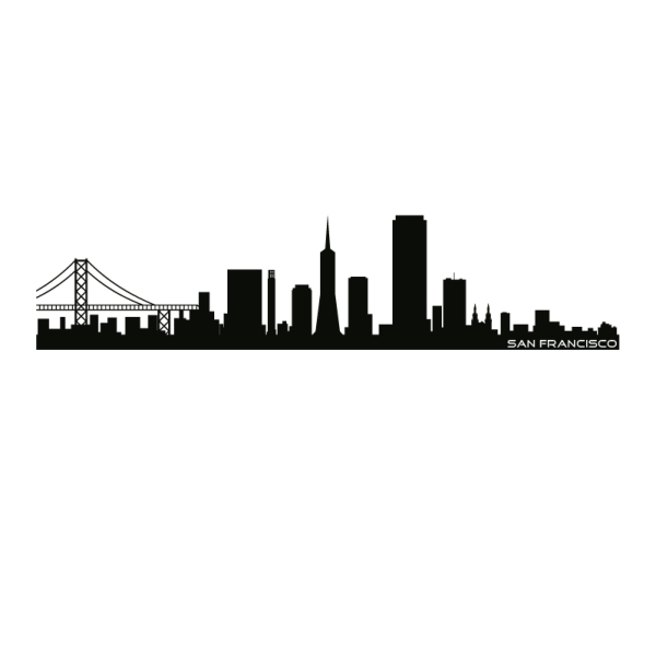 600x600 San Francisco Skyline Silhouette Gala Class Art Project (Gardner