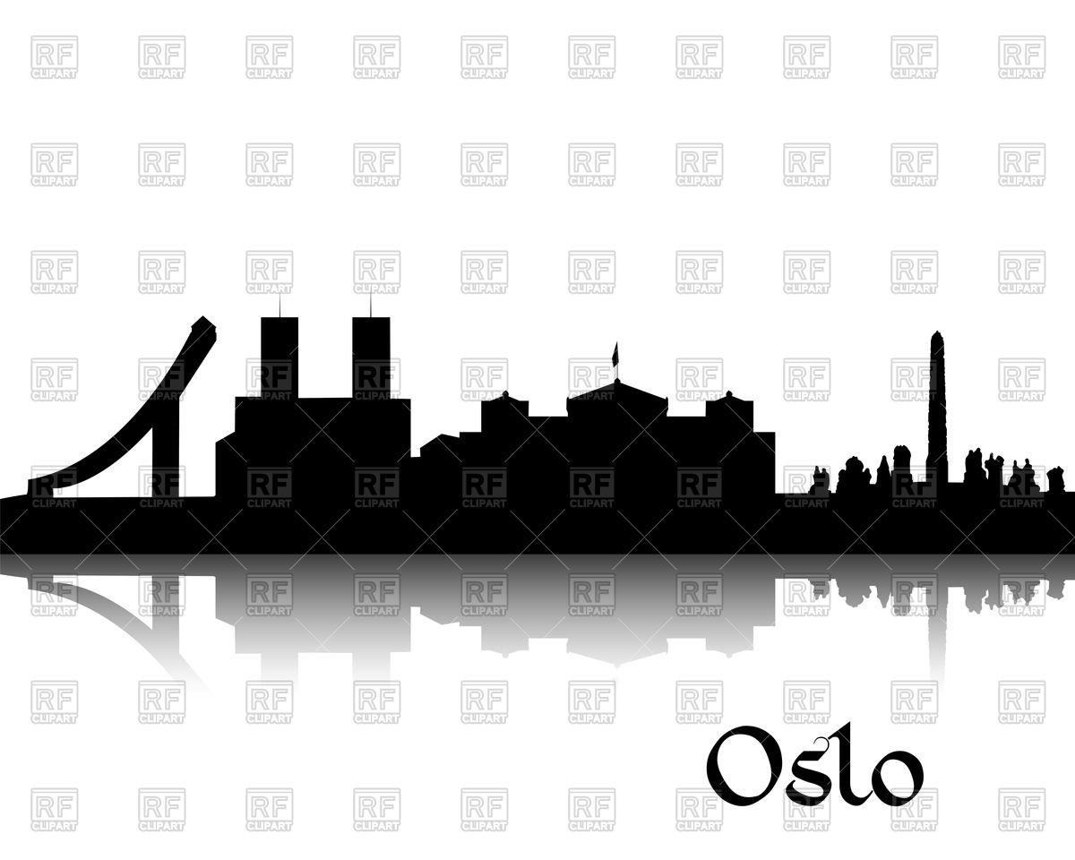1200x960 Silhouette Of Cityscape Of Oslo