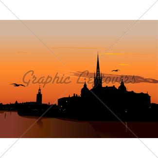 325x325 Skyline Stockholm Gl Stock Images