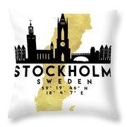 180x180 Stockholm Sweden Silhouette City Skyline Map Art Digital Art By