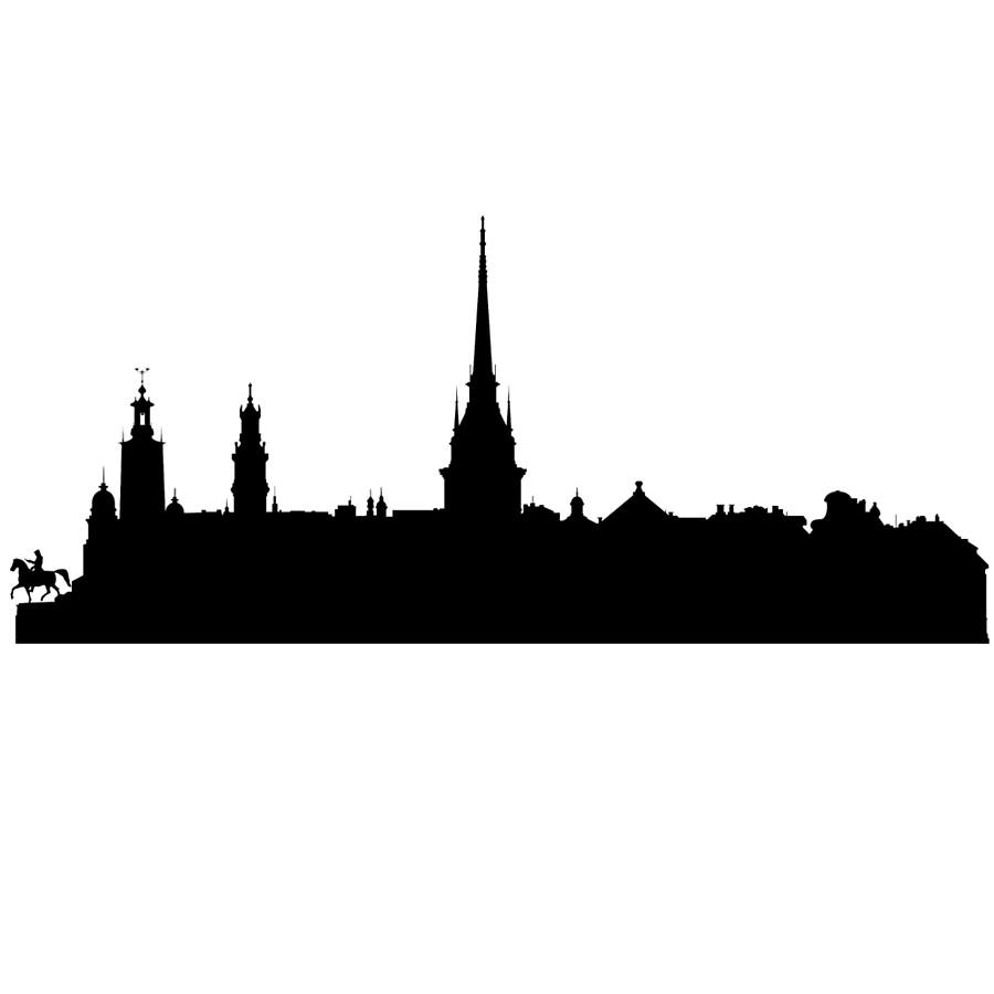 900x900 Stockholm Skyline Clocks By Maximgertsen Redbubble