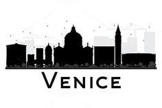 236x157 Venice Svg, Venice Clipart City Silhouette, Venice Skyline Vector