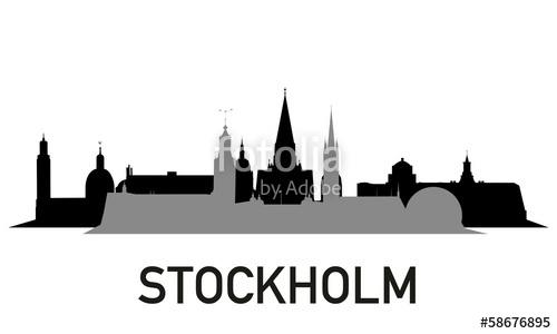 500x300 City ~ Stadt ~ Skyline ~ Horizont ~ Silhouette ~ Stockholm Stock