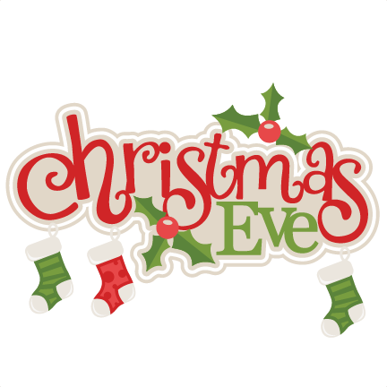 432x432 Christmas Eve Title With Stockings Svg Scrapbook Cut File Cute