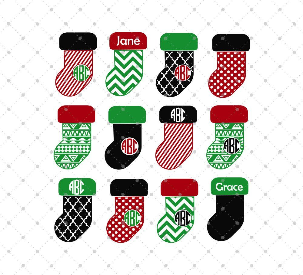 1000x909 Christmas Stocking Svg Cut Files Filing, Cutting Files