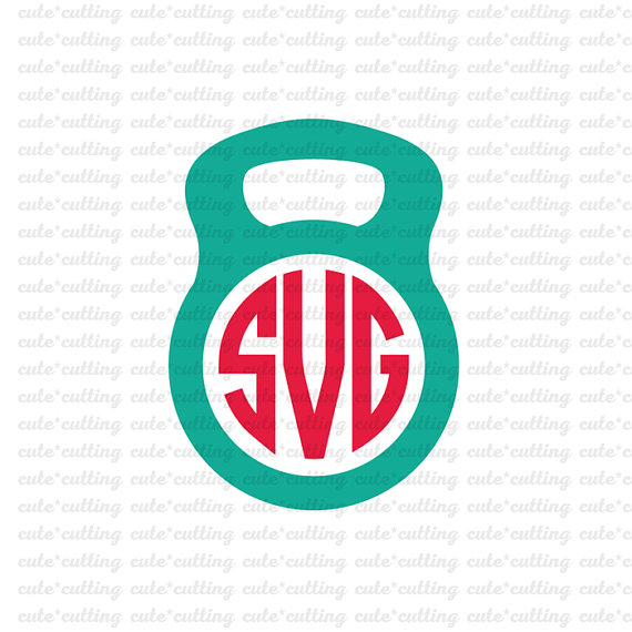 570x570 Fitness Monogram Jump Rope Kettlebell Scale Stopwatch Svg