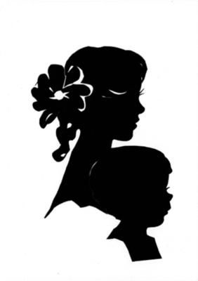 282x400 Brother And Sister Silhouette Art By Cindi Rose, Done