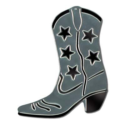 400x400 Silver Foil Cowboy Boot Silhouette 16 Supplies, 16 And Party